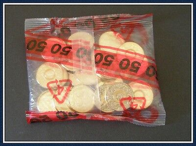 2016 Rio Olympics $2 yellow coins x 25 in sealed bag as shown.