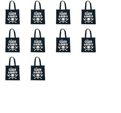 Wholesale job lot of THE CLASH Official Licensed ECO Tote bags x10