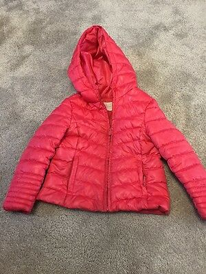 Girls Pink Hooded Puffa Jacket, Zara, Age 5/6