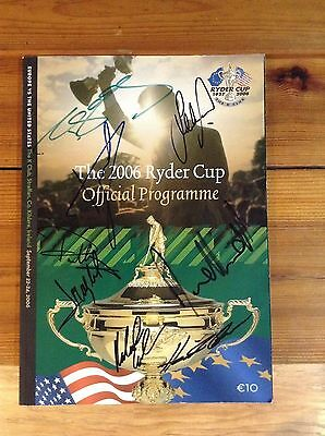 2006 Ryder Cup Programme K Club Signed By 8 + Coa