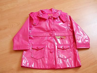 Marese Impermeable Rose Avec Capuche 18 Mois Comme Neuf