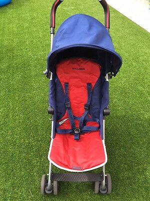 Maclaren Quest Red and Blue Pushchair