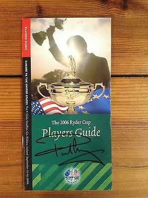 Paul Casey Signed 2006 Ryder Cup Players Guide + Coa
