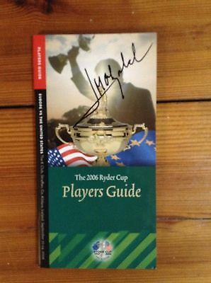 Jose Maria Olazabal Signed 2006 Ryder Cup Players Guide + Coa