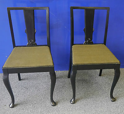 A set of six antique Danish painted dining chairs