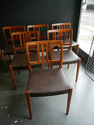 A set of six 1970s  vintage Danish rosewood dining chairs by Nils Jonnson