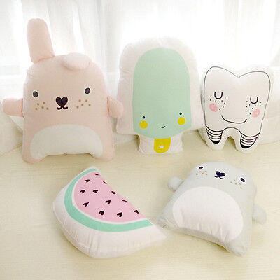 Baby Catoon Pillow Kids Cute Cushion Cotton Baby Plush Toy Doll Xmas Gift