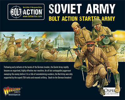 Warlord Games Bolt Action Starter Army Soviet Russian 28mm Scale - Brand New