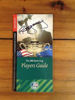 Paul Mcginley Signed 2006 Ryder Cup Players Guide + Coa