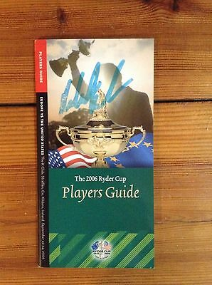 Robert Karlsson Signed Ryder Cup Players Guide + Coa