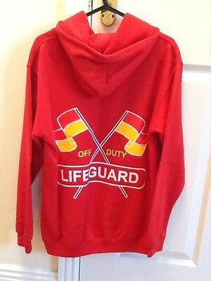 Childrens Red St.Ives Lifeguard Hoodie Aged 12-13 years