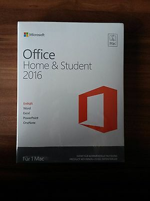 Microsoft Office Home and Student 2016 MAC / Vollversion / PKC / GZA-00598 *NEU*