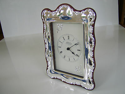 Silver Mantle Clock Richard Carr Sheffield Millenium Hallmark 2000 Boxed