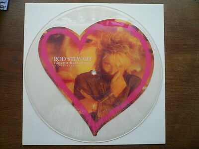 """rod stewart - the old heart of mine - picture disc UNCUT Shape 12"""" Testpressing"""
