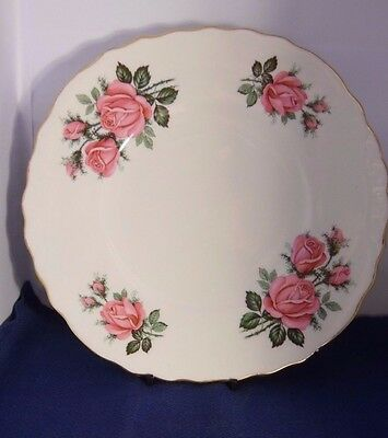 Vintage Royal Vale Bone China Cake Plate  Roses