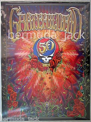 ARTIST SIGNED GRATEFUL DEAD-OFFICIAL 50th ANNIVERSARY LENTICULAR PRINT POSTER