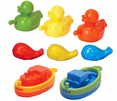 Baby Toddler Fun Bath Time Toy Play Set Boats Ducks Squirting Whales 18 Months +