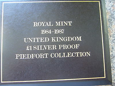 Royal Mint 1984 - 1987 Silver Proof Piedfort Collection