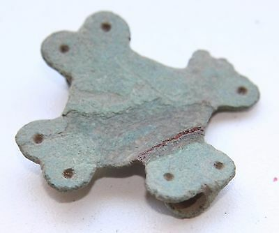 Ancient Old Bronze Brooch. Viking Age. (AGN20)