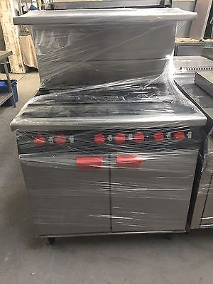 Commercial Bartlett Yeoman 6 Burner Natural Gas Cooker With Double Oven