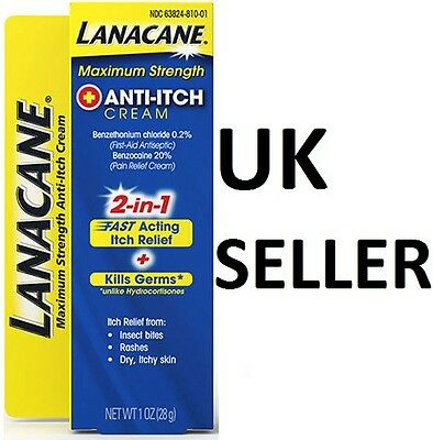 Lanacane MAXIMUM STRENGTH 2-in-1 Anti-Itch Cream+Antiseptic First Aid Itching