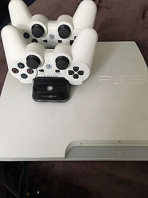 PS3 With 2 Wireless Controllers - Slim White (unboxed)