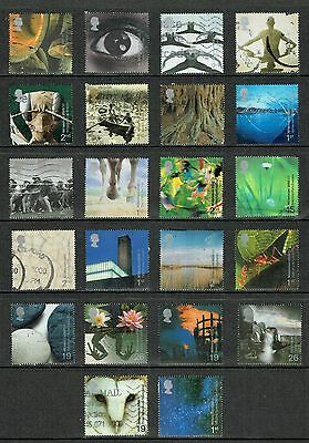 GB Stamps 2000 Selection of Used Commemorative from 2000