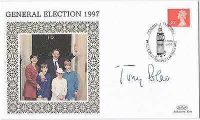 Tony Blair General Election 1997 autographed stamp cover Labour Prime Minister