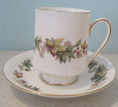 4 Lovely Vintage Royal Stafford Lyndale Coffee Cans Cups And Saucers Bone China