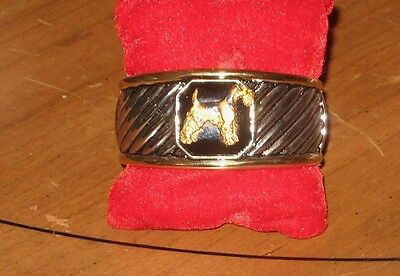 Airedale Terrier/Welsh Cuff Bracelet~Classic and Unique~Handpainted Dog