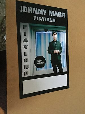 """Johnny Marr (The Smiths). """"playland"""". promo poster"""