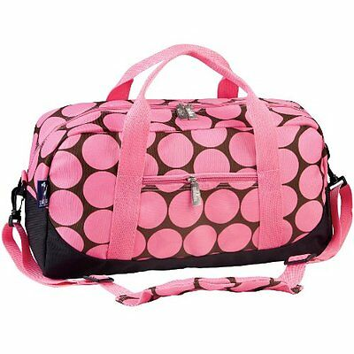 Wildkin Big Dots Pink Overnighter Duffel Bag Travel Duffels
