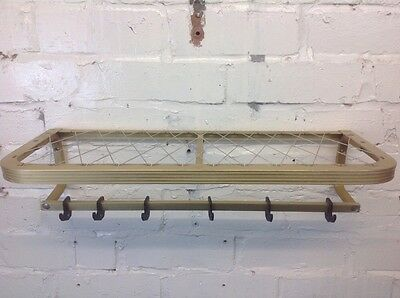 Vintage 54cm Coat Stand Made In Poland Gold Aluminium Hall Rack