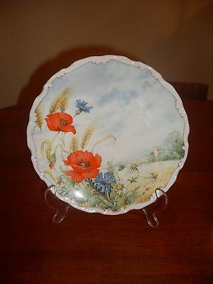 Poppy & Cornflower Plate, Royal Albert Flowers of the Hedgerow Collection