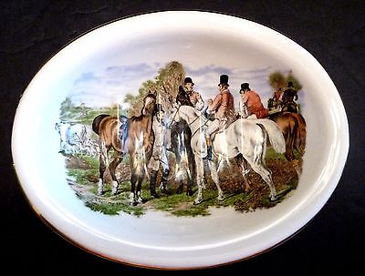 Vtg Kernewek One And All Goonhavern Cornwall England Soap Dish, Horses, Hunt