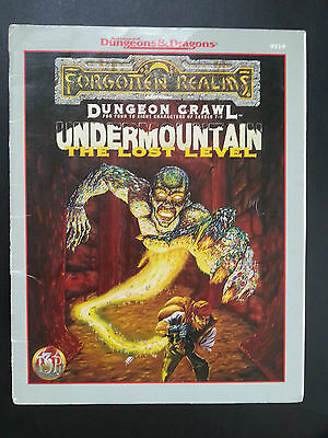"""AD&D """"UNDERMOUNTAIN The LOST LEVEL"""" FORGOTTEN REALMS DUNGEON CRAWL TSR #9519 VNC"""