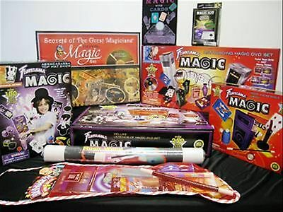 Magic Tricks - Coin-Card- Close Up - Wand - Party -Beginners- Magician/sets/gift