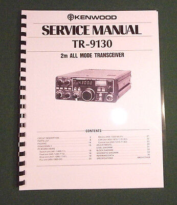 Kenwood TR-9130 Service Manual - Premium Card Stock Covers & 28 lb Paper