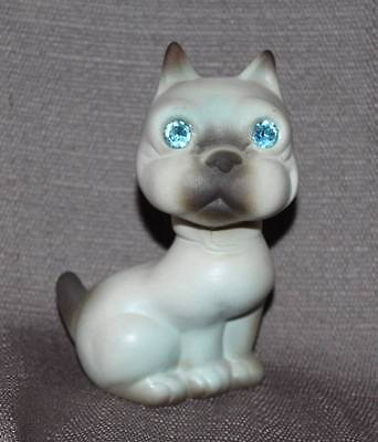 Vtg Jeweled Eye Cat? Dog? Figurine Usa