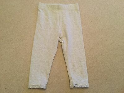 Baby girls Next grey leggings with lace edging on legs BNWOT size 12 - 18 months
