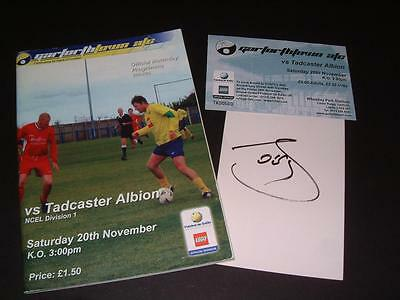 Garforth Town Fc 2004 Programme & Ticket Hand Signed By Brazil Legend Socrates