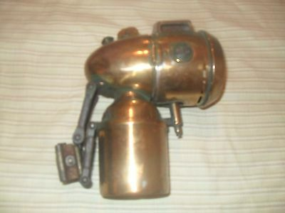 Rare Vintage brass bicycle or motorcycle JMPEX carbide light