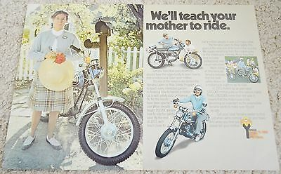 1973 Yamaha AT3 125 Original 2 page Color Magazine Ad