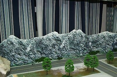 Roads & Seamless Mountain Terrain N Scale Background PDF Cutout File Download