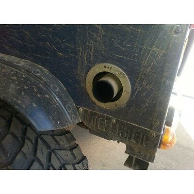 Land Rover Defender 90 TD5/Puma side exit exhaust.