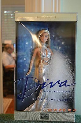 2001 Diva Collection Gone Platinum Barbie Doll NIB