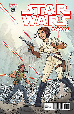 Star Wars Annual #2 Variant Cover By Elsa Charretier