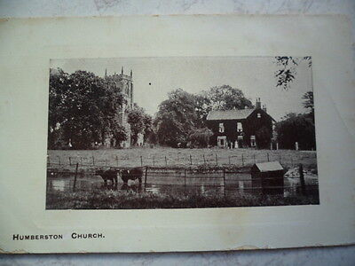 Vintage Rp Postcard Humberston Church Near Grimsby Lincolnshire See Photo