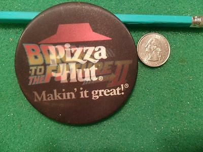 """Vintage 1989 Back To The Future 2 / Pizza Hut Pinback Button 3"""""""
