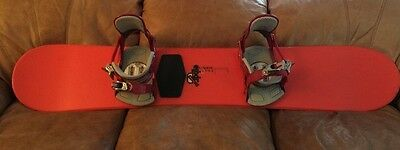 145 Cm Liquid ELIXIR Snowboard With Ride Bindings